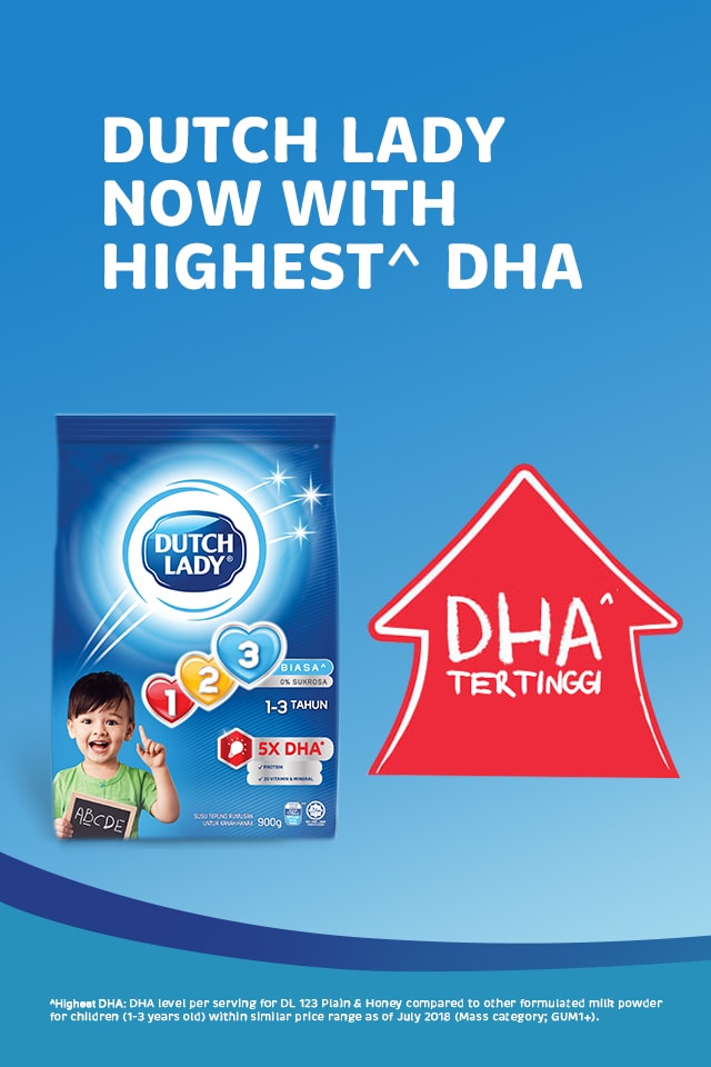 Dutch Lady Now With Highest DHA